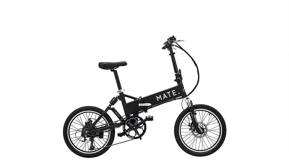 An electric folding MATE bicycle